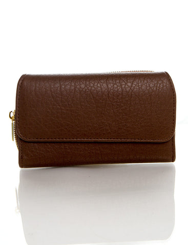 Zip Around Continental Wallet - Light Brown - Ampere Creations