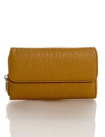 Zip Around Continental Wallet - Tan - Ampere Creations