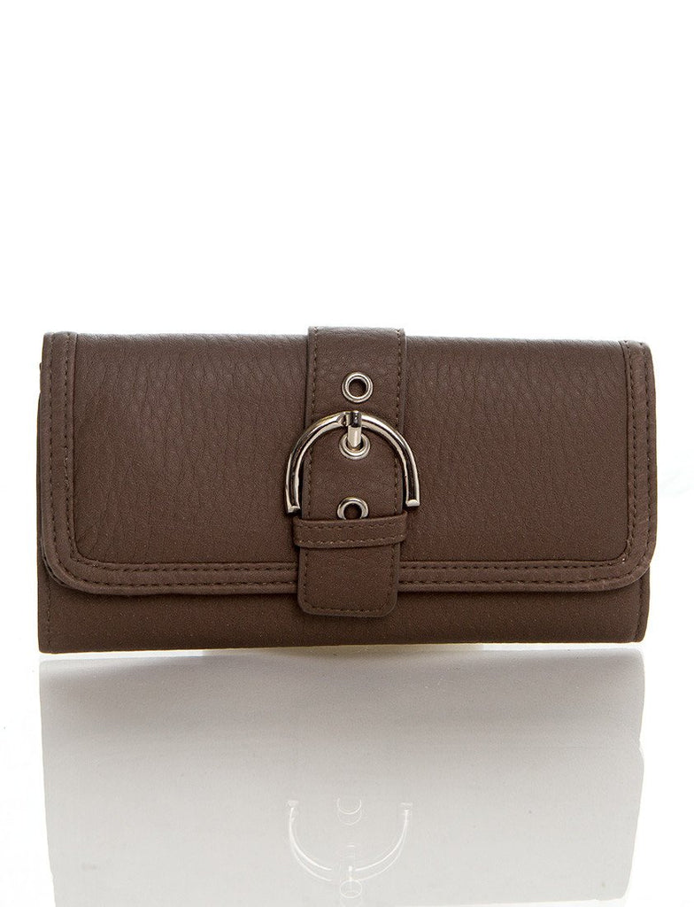 Long Clutch Purse Card Holder Wallet - Grey