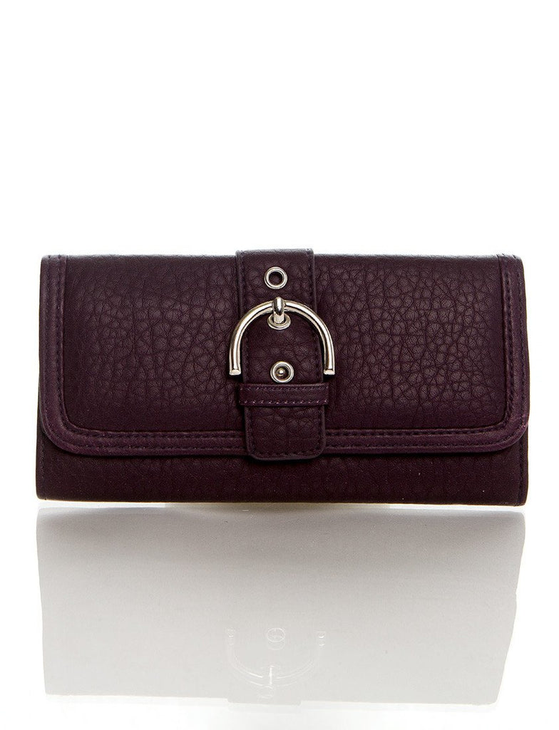Long Clutch Purse Card Holder Wallet - Purple - Ampere Creations