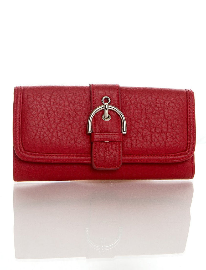 Long Clutch Purse Card Holder Wallet - Red