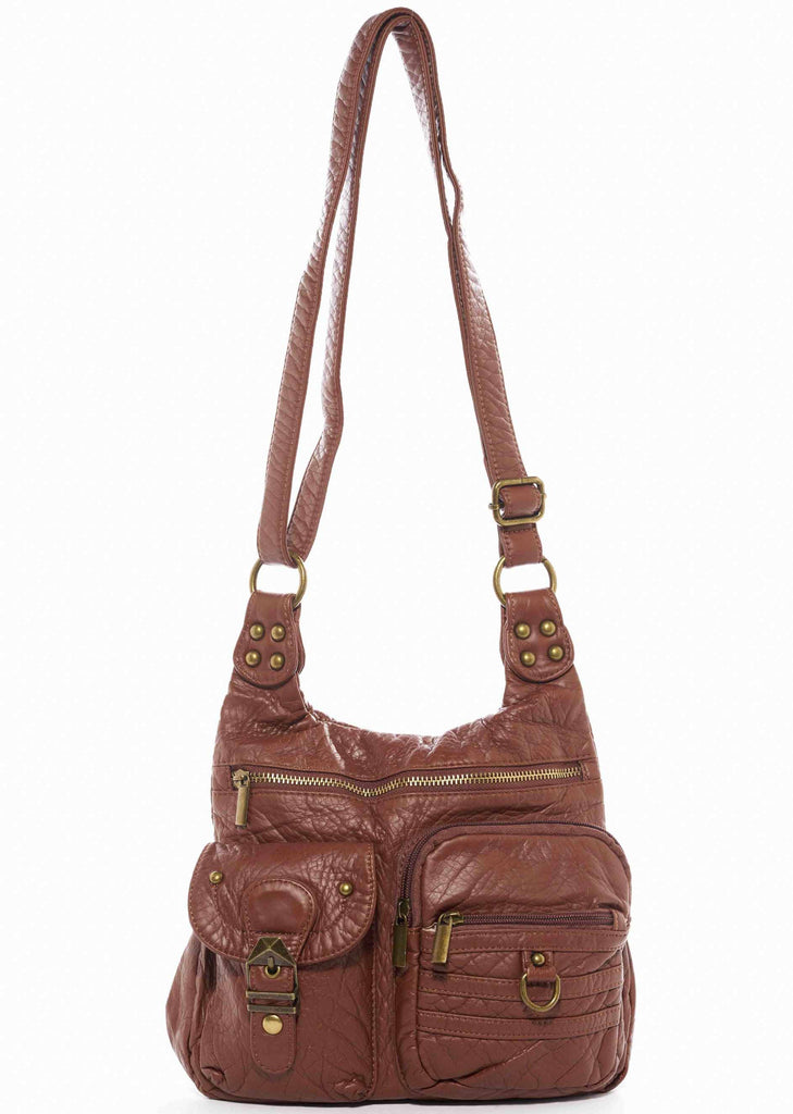 The Aria Crossbody - Brown - Ampere Creations