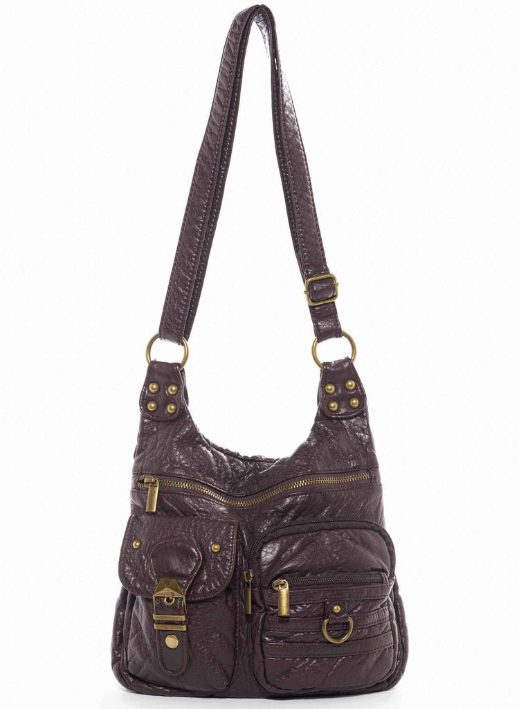 The Aria Crossbody - Chocolate Brown