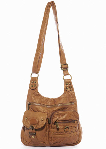 The Aria Crossbody - Light Brown
