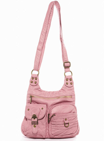 The Aria Crossbody - Rose Pink