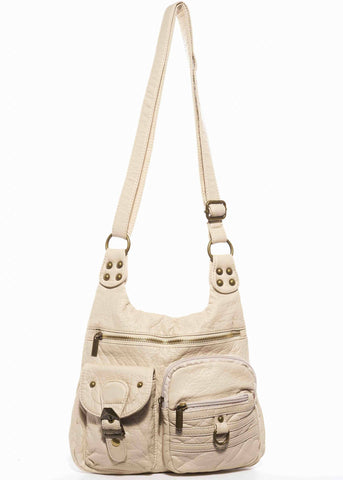 The Aria Crossbody - Taupe