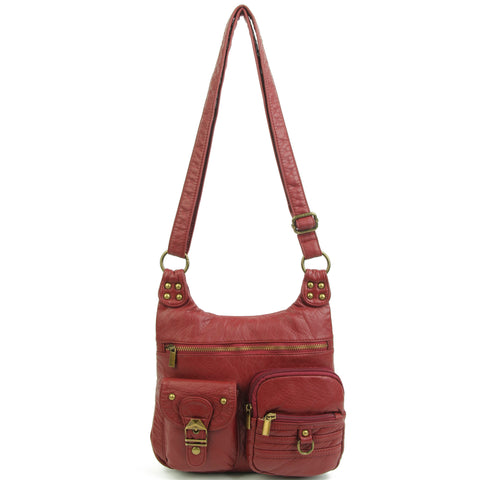 The Aria Crossbody - Burgundy - Ampere Creations