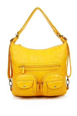 Convertible Crossbody Backpack - Honey Mustard - Ampere Creations