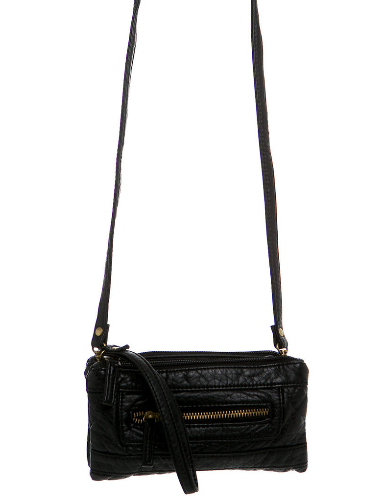 The Classical Three Way Wristlet Crossbody - Black - Ampere Creations