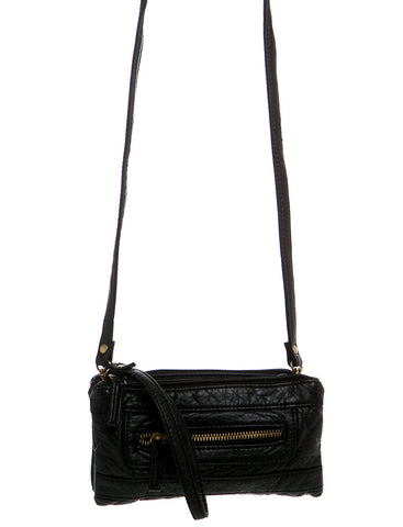 The Classical Three Way Wristlet Crossbody - Black