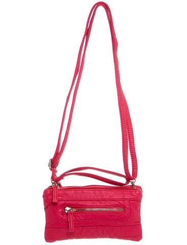 The Classical Three Way Wristlet Crossbody - Coral