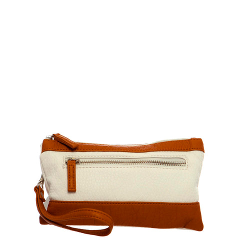 Gameday Wristlet Crossbody - Brown/White