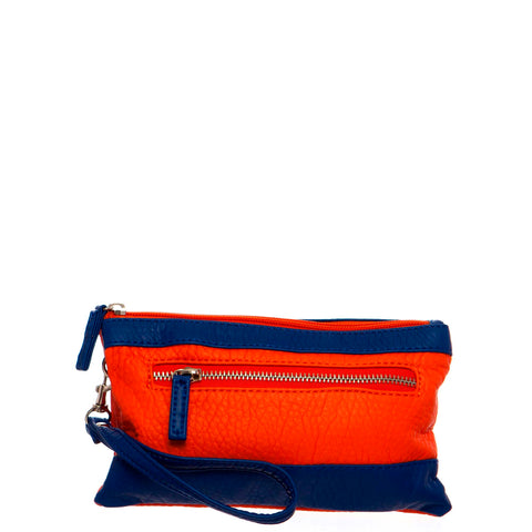 Gameday Wristlet Crossbody - Orange/Royal Blue