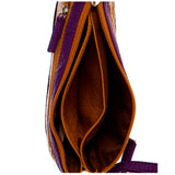 Gameday Wristlet Crossbody - Purple/Mustard