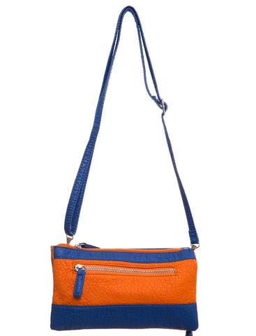 Gameday Wristlet Crossbody - Orange/Blue - Ampere Creations