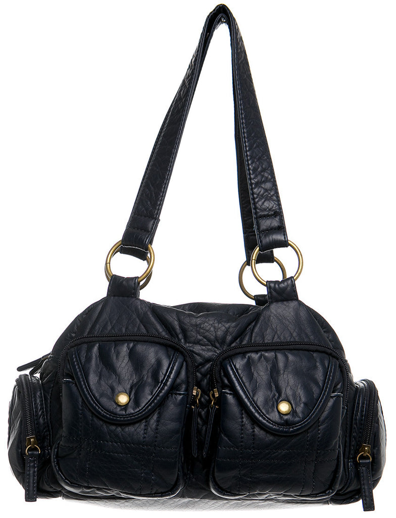 The Cody Satchel - Dark Blue - Ampere Creations