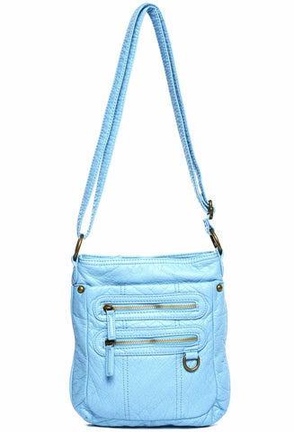 The Willa Crossbody - Serenity Blue