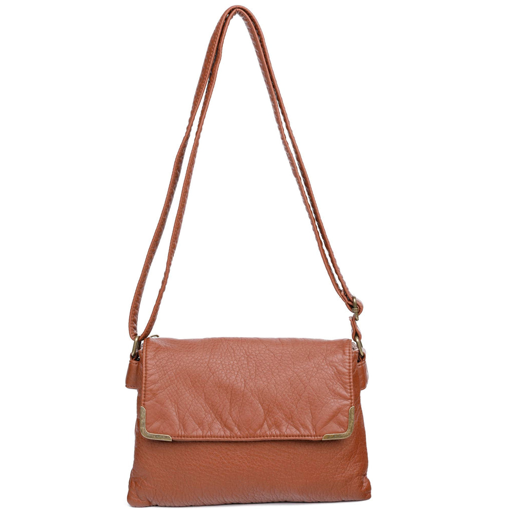 Paige Crossbody - Brown - Ampere Creations