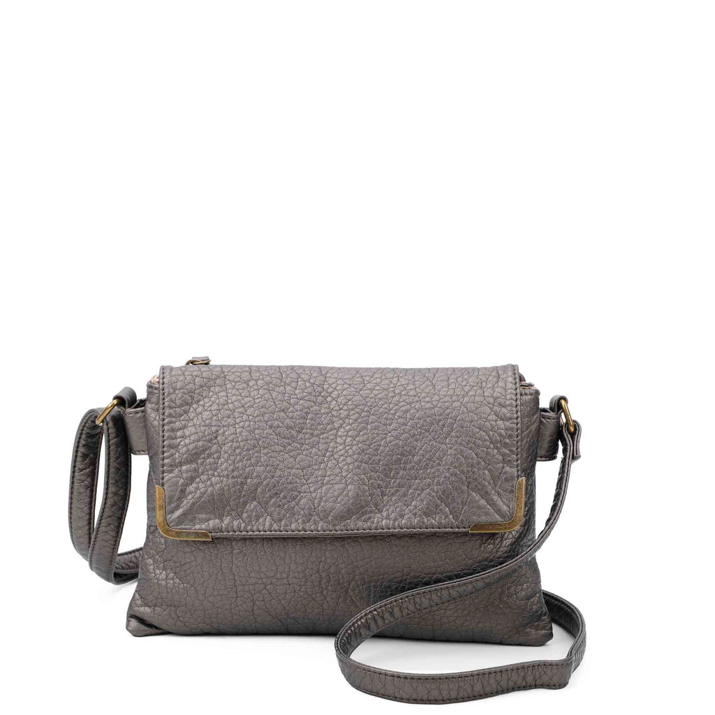 Paige Crossbody - Dark Silver - Ampere Creations