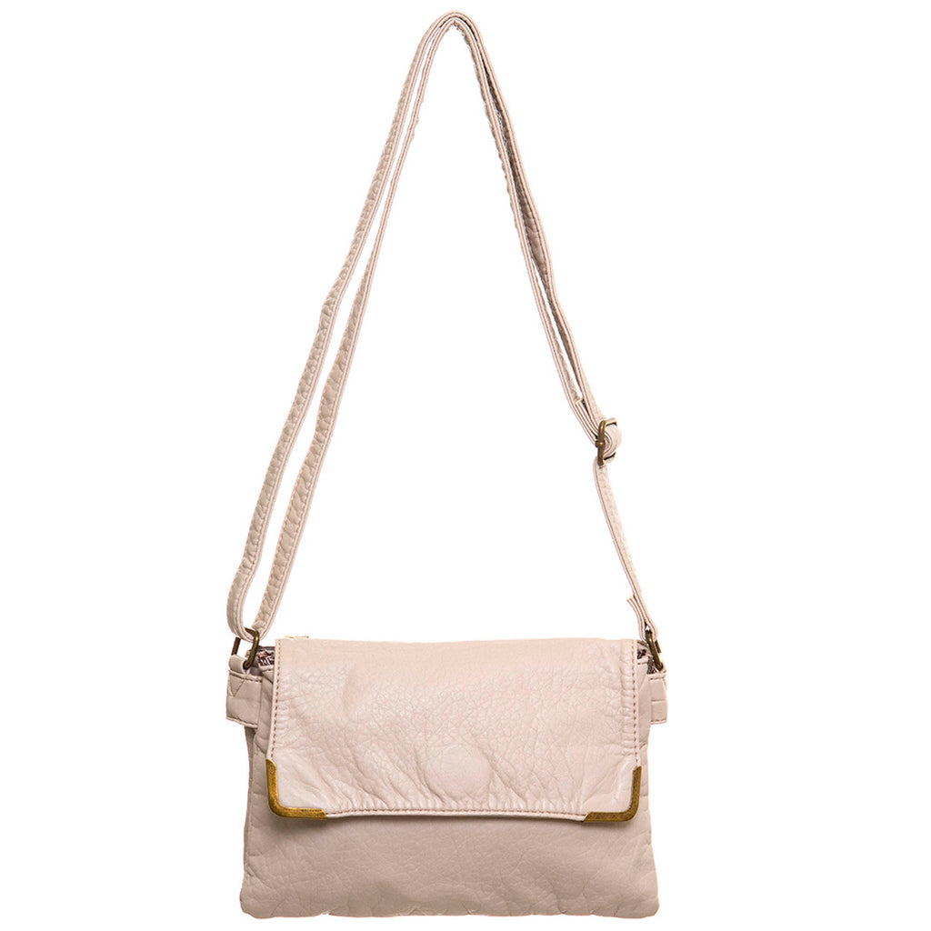 Paige Crossbody - Taupe - Ampere Creations