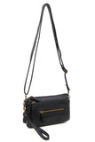 The Anita Three Way Crossbody Wristlet - Black
