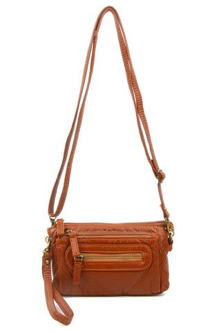 The Anita Three Way Crossbody Wristlet - Brown