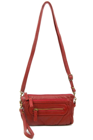 The Anita Three Way Crossbody Wristlet - Burgundy
