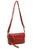 The Anita Three Way Crossbody Wristlet - Burgundy - Ampere Creations