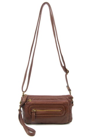 The Anita Three Way Crossbody Wristlet - Chocolate Brown - Ampere Creations