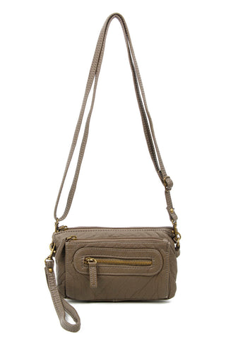 The Anita Three Way Crossbody Wristlet - Dark Grey - Ampere Creations