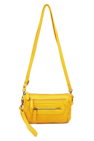 The Anita Three Way Crossbody Wristlet - Honey Mustard