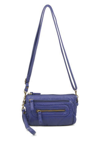 The Anita Three Way Crossbody Wristlet - Navy Blue - Ampere Creations