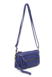 The Anita Three Way Crossbody Wristlet - Navy Blue