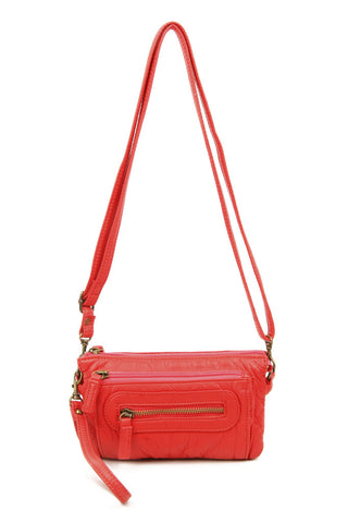 The Anita Three Way Crossbody Wristlet - Poppy Red