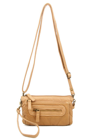 The Anita Three Way Crossbody Wristlet - Sand