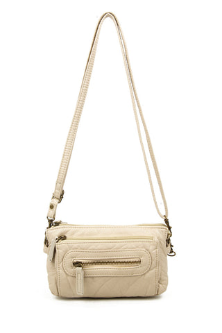 The Anita Three Way Crossbody Wristlet - Taupe