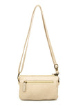 The Anita Three Way Crossbody Wristlet - Taupe - Ampere Creations
