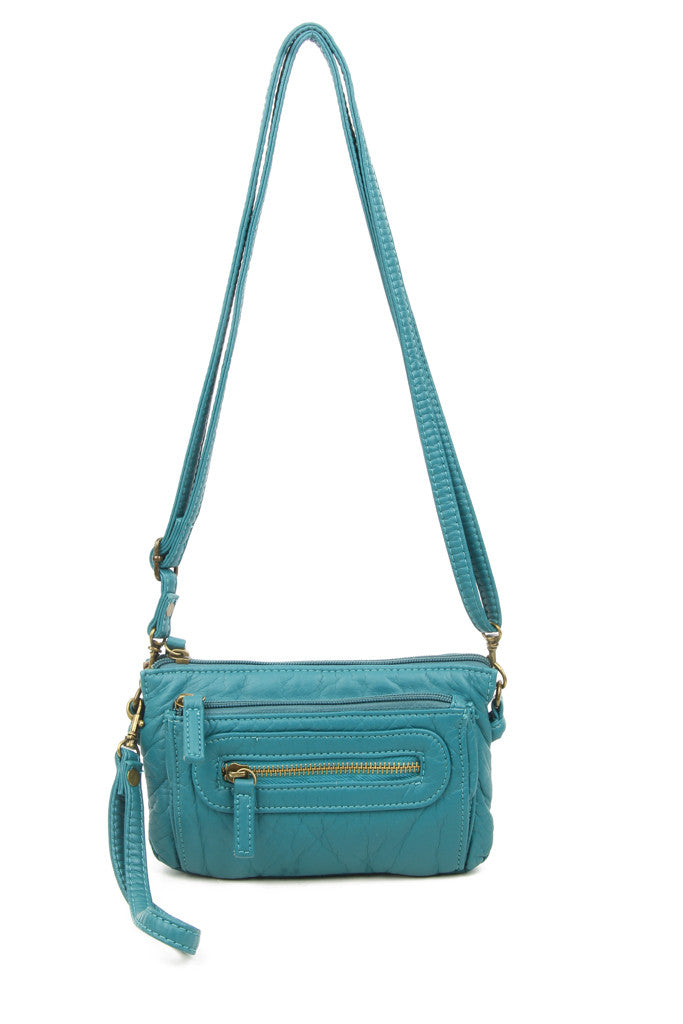 The Anita Three Way Crossbody Wristlet - Teal - Ampere Creations