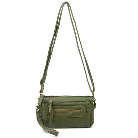 The Anita Three Way Crossbody Wristlet - Army Green - Ampere Creations