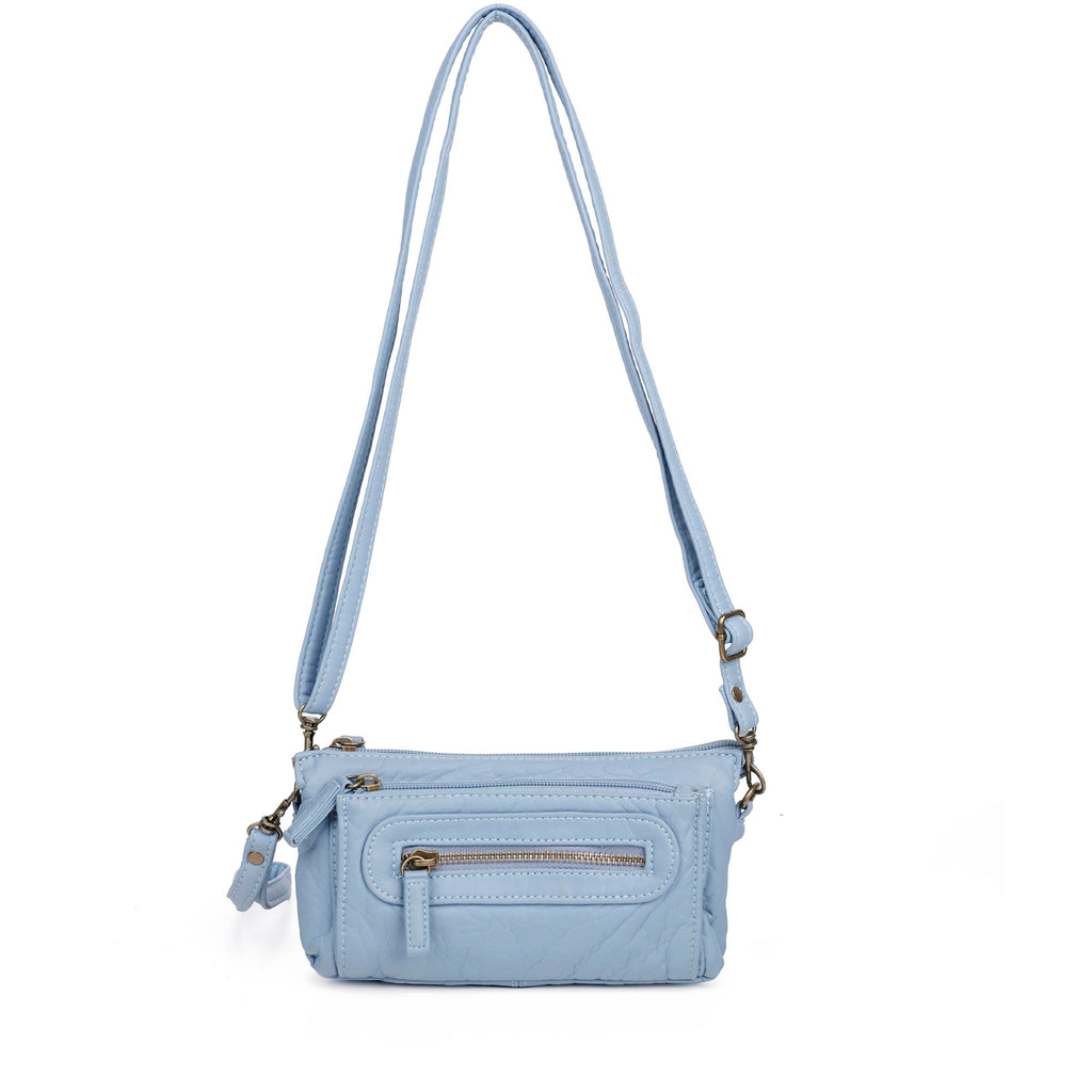 The Anita Three Way Crossbody Wristlet - Baby Blue - Ampere Creations