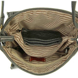 The Anita Three Way Crossbody Wristlet - Dark Silver - Ampere Creations