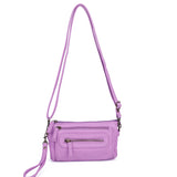 The Anita Three Way Crossbody Wristlet - Light Purple - Ampere Creations