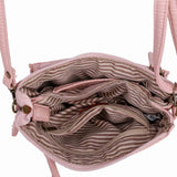 The Anita Three Way Crossbody Wristlet - Petal Pink - Ampere Creations