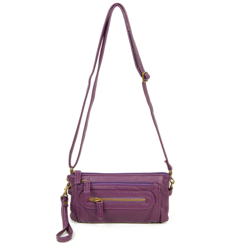 The Anita Three Way Crossbody Wristlet - Purple - Ampere Creations