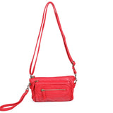 The Anita Three Way Crossbody Wristlet - Red - Ampere Creations