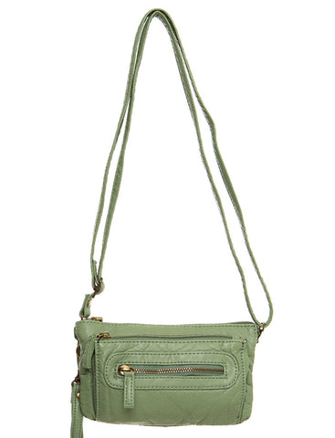 The Anita Three Way Crossbody Wristlet - Seafoam Green - Ampere Creations