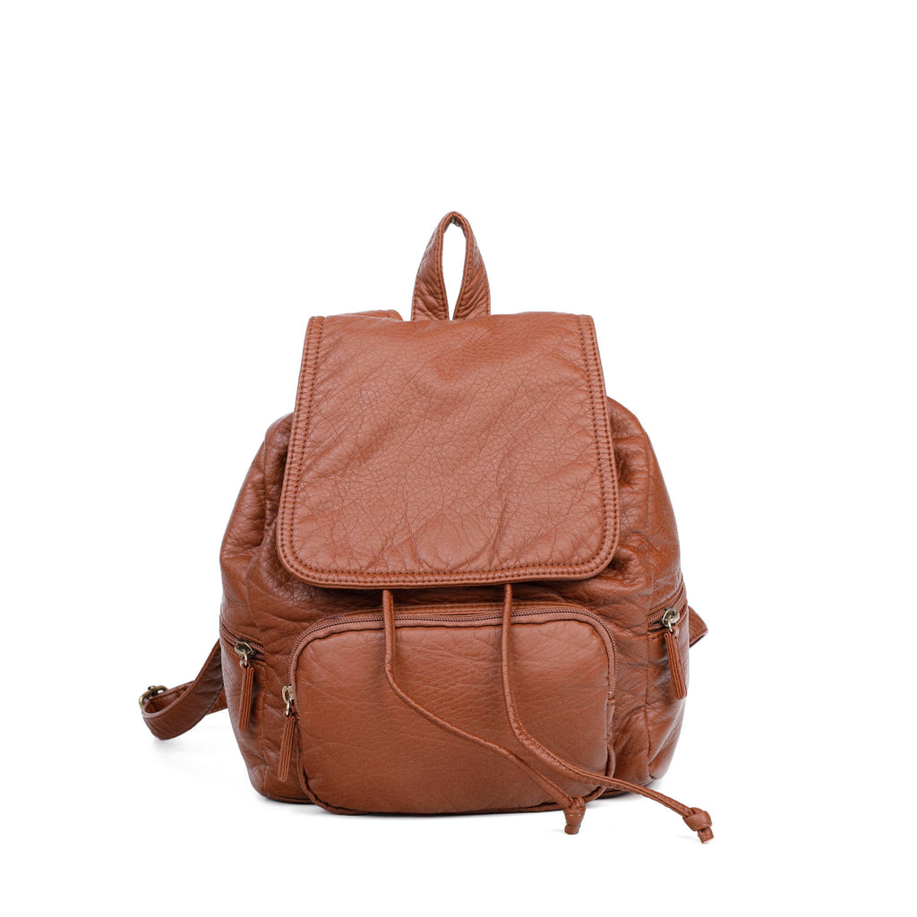 The Marion Backpack - Brown - Ampere Creations