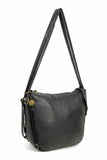 The Joia Convertible Sack Crossbody - Black