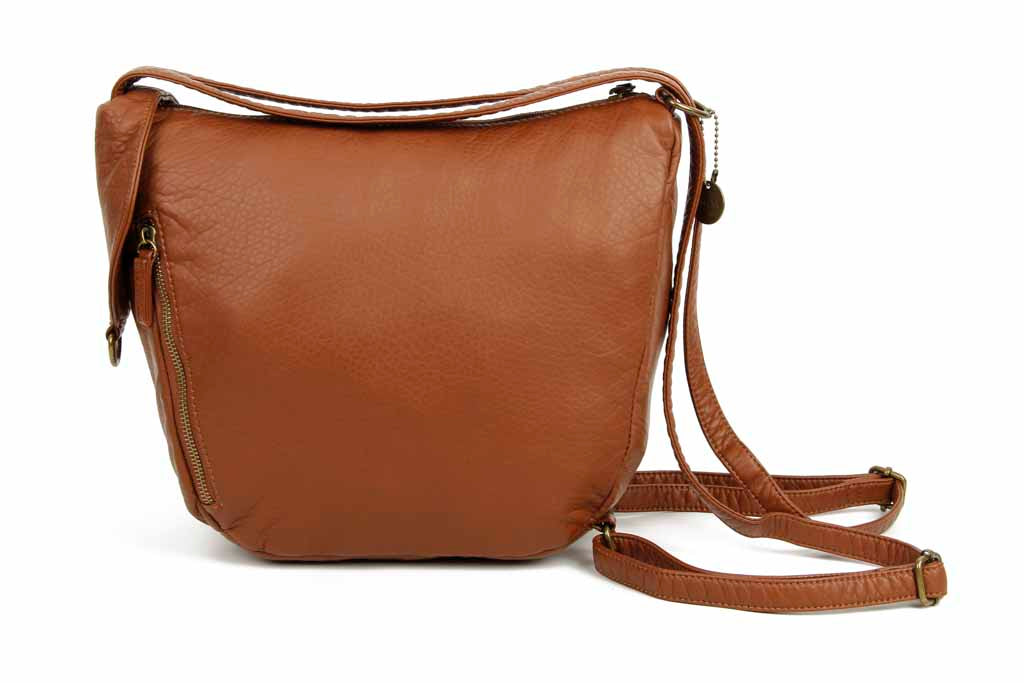 The Joia Convertible Sack Crossbody - Brown - Ampere Creations