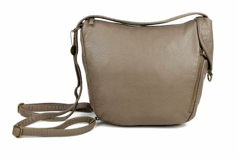 The Joia Convertible Sack Crossbody - Dark Grey